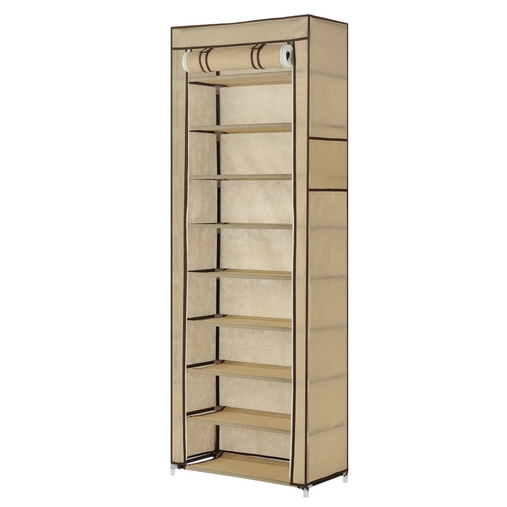 Fabric Storage Cabinets: Homegear Large Free Standing Fabric Shoe Rack /Storage