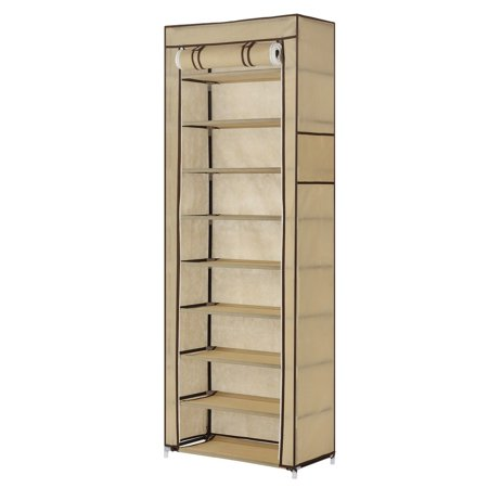 Homegear Large Free Standing Fabric Shoe Rack /Storage Cabinet /Closet