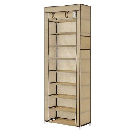Homegear Large Free Standing Fabric Shoe Rack /Storage Cabinet /Closet