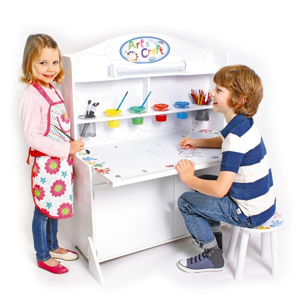 Jupiter Workshops 20001 Wooden Activity Station Toy, White