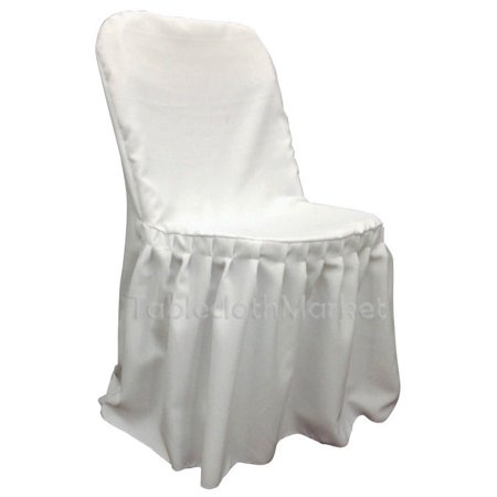 Fine Chair Covers Pleated Polyester Wedding Party Decorations Folding Chair 24 Colors Color White Count 5 Alphanode Cool Chair Designs And Ideas Alphanodeonline