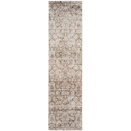 """Safavieh Vintage 4' X 5'7"""" Power Loomed Rug in Brown and Creme - image 6 de 6"""
