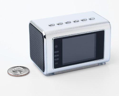 Jumbl Mini Hidden Spy Camera Radio Clock w/Motion Detection - Silver