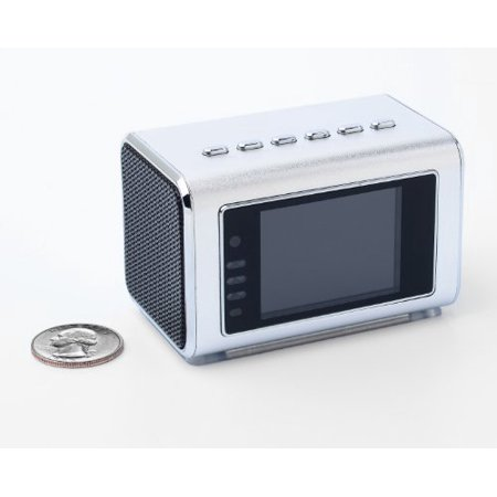 Jumbl Mini Hidden Spy Camera Radio Clock w/Motion Detection - Silver