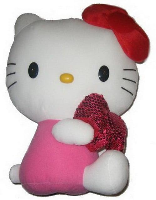 Hello Kitty 14-inch Sparkle Bow Pink DX Plush EIKBO by Eikoh