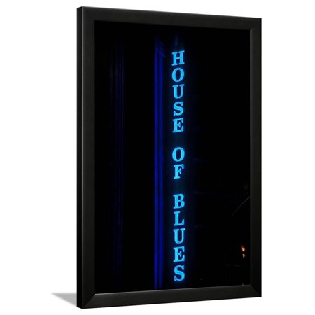 House of Blues Neon Sign, Chicago, Illinois Framed Print Wall Art Chicago Bulls Framed Wall