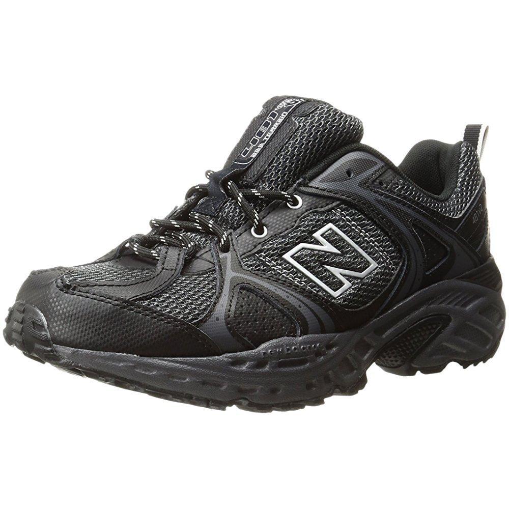 New Balance men's 481v2 trail running shoe, black/silver,...