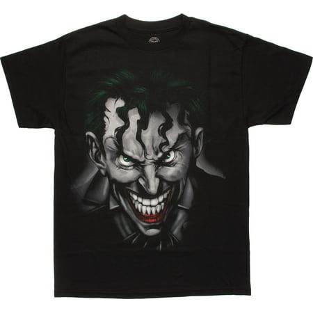Airbrushed Clothing - Joker Airbrushed Crazed Close Up T-Shirt