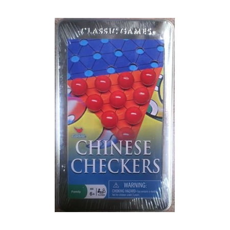 Cardinal Classics Chinese Checkers Tin Game