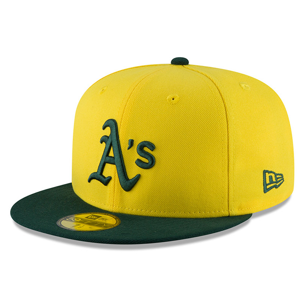 Oakland Athletics New Era 2018 Players' Weekend On-Field 59FIFTY Fitted Hat - Yellow/Green