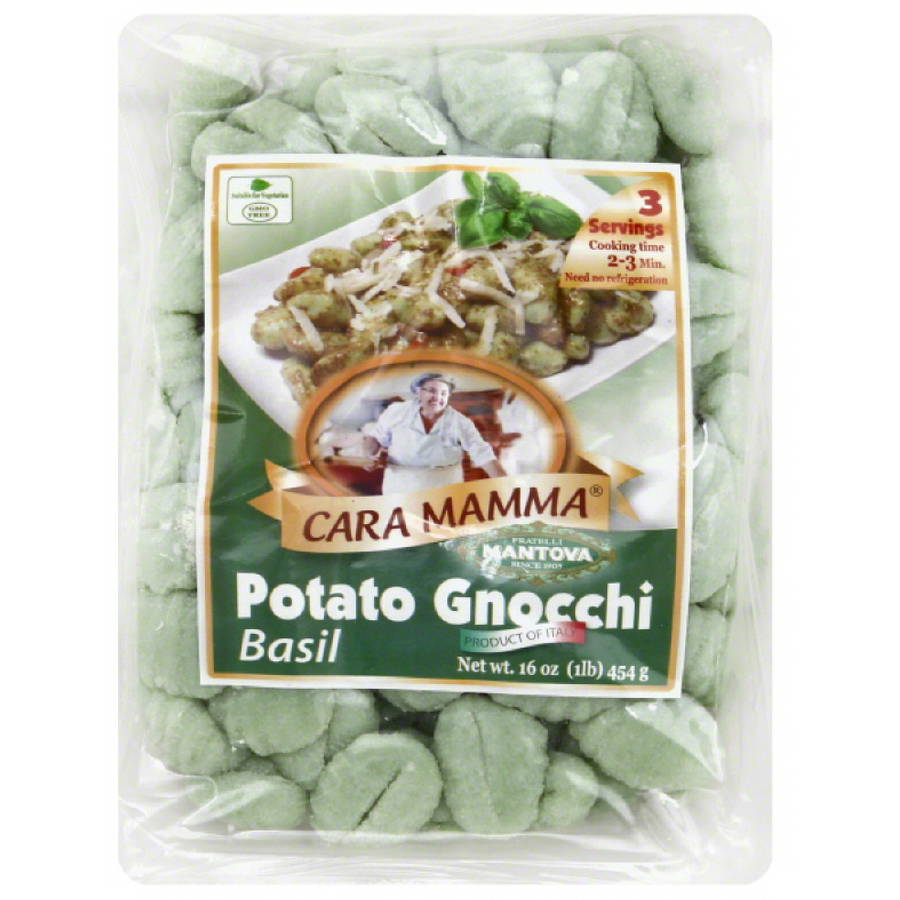 Cara Mamma Basil Potato Gnocchi Pasta, 16 oz, (Pack of 12)