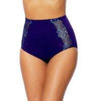 Rhonda Shear Seamless Lace Brief Underwear 605-377 Regular & Plus Sizes (White,X-Small (0-2))