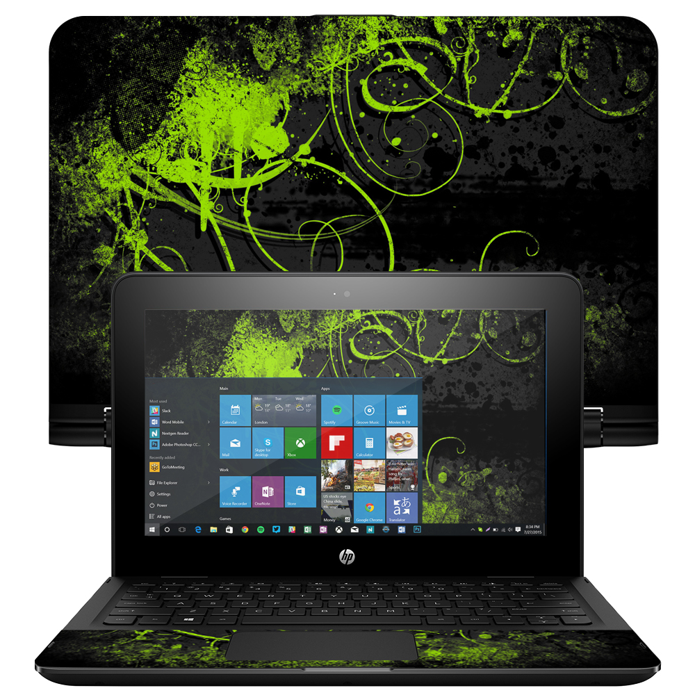 """MightySkins Protective Vinyl Skin Decal for HP x360 Convertible 11"""" (2017) wrap cover sticker skins"""