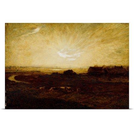 Great Big Canvas Marie Auguste Emile Rene Menard Poster Print Entitled Landscape At Sunset
