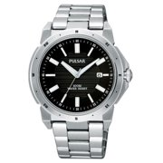 Pulsar PG8149 Mens Stainless Steel Black Dial Date 10Atm Casual Watch