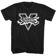 Street Fighter Men's  SFV BW Slim Fit T-shirt Black