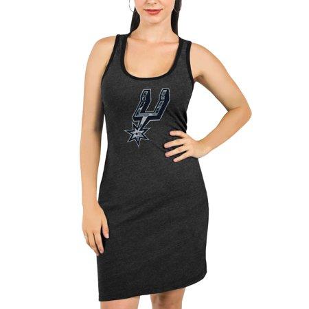 Barrel Racer Spurs (San Antonio Spurs Majestic Threads Women's Camo Pop Tri-Blend Racerback Sleeveless Dress - Black )