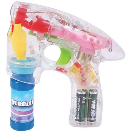 Novelty Lighting Mart : Super Light Up Laser Bubble Gun With LED Flashing Lights - Walmart.com