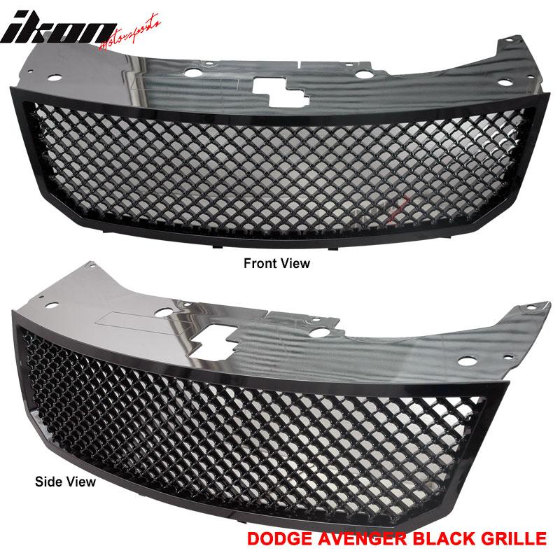 07-10 Dodge Avenger Honeycomb Mesh Black Hood Grille