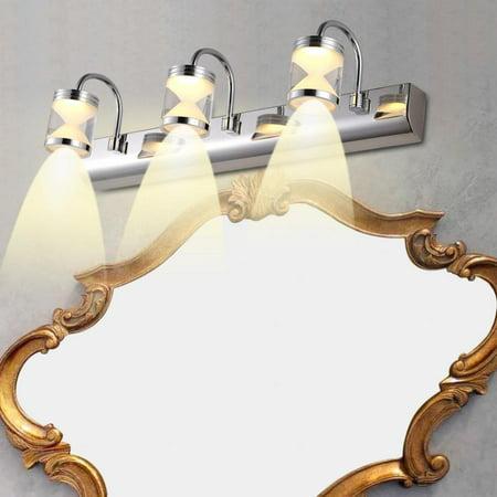 Lv. life 3 LEDs Light Wall Mounted Makeup Lamp Modern Cabinet Bathroom Toilet Wall Light (Warm White 90-220V)