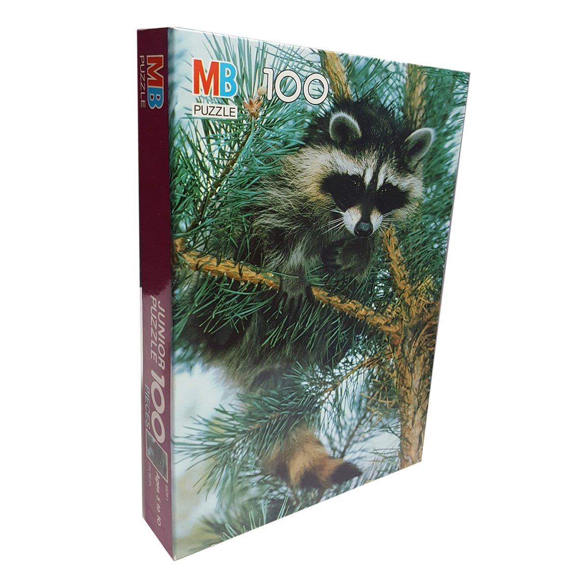 Milton Bradley 100 Piece Junior Jigsaw Puzzle Raccoon Ages 5+ by Milton Bradley