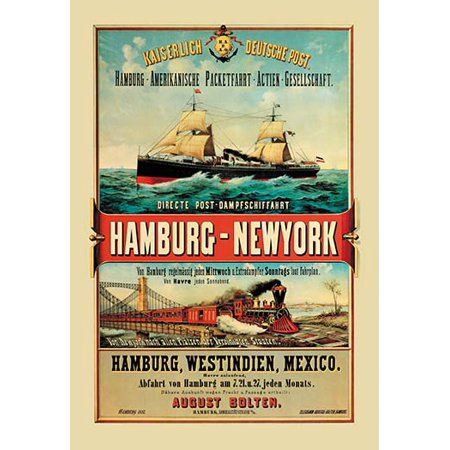 Direct Post Office Shipping Hamburg to New York Fine art canvas print (20