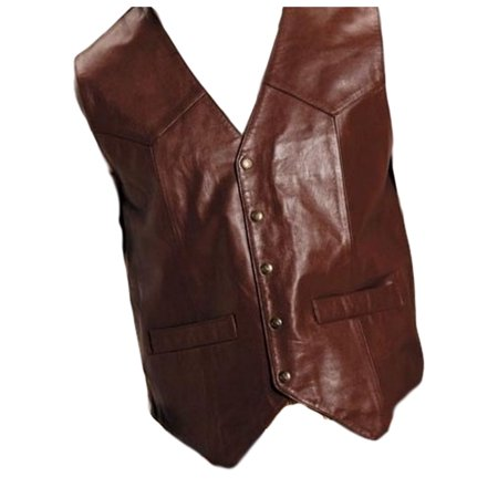 Roper Western Vest Mens Goat Leather Saddle Brown 02-075-0510-0802 BR