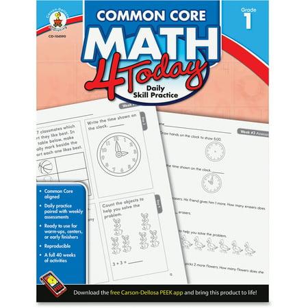 Carson Dellosa Grade 1 Common Core Math 4 Today Workbook Education Printed Book For Mathematics   English