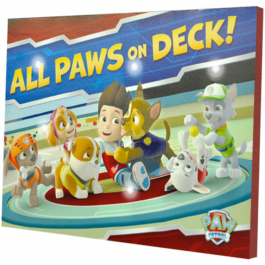 Nickelodeon Paw Patrol Light Up Canvas Wall Art with BONUS LED Lights