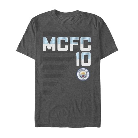 Manchester City Football Club Men's MCFC 10 Stripe (Stripe Football Tee)