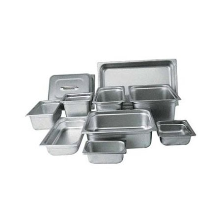 Winco Half Size Steam Table Pan, 4-in Deep, Anti-jamming, Stainless