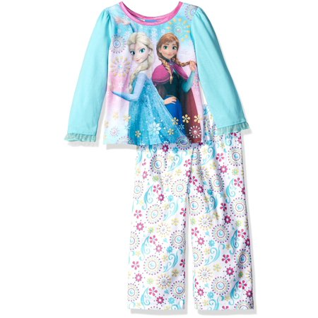 21df69d62 Disney - Disney Toddler Girls  Frozen 2-Piece Pajama Set - Walmart.com