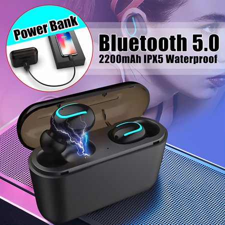 Bass Earphone - Mini Bluetooth 5.0 Earbuds Sport True Wireless Headphones Bass Twins Stereo In-Ear Earphone for Android & iPhone