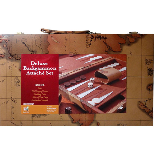 Deluxe Backgammon Attache Set,  Entertainment by Go! Games