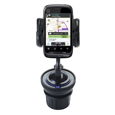 Unique Auto Cupholder And Suction Windshield Dual Purpose Mounting System For Motorola Ciena   Flexible Holder System Includes Two Mount Options