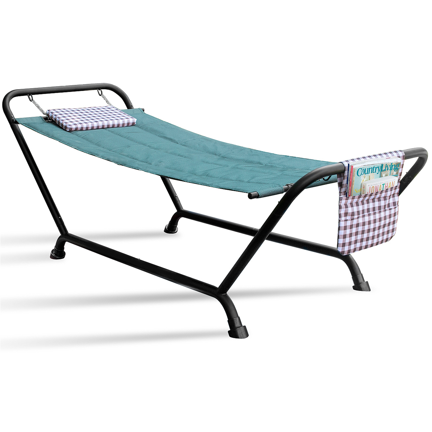 Sorbus Hammock Bed with Stand, Features Deluxe Pillow and Storage Pockets, Heavy Duty, Supports 500 Pounds