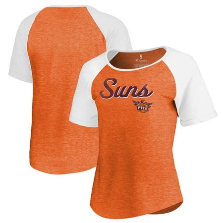 finest selection 7ff4d 12d84 Phoenix Suns Fanatics Branded Women's Rising Script Color Block Raglan  Tri-Blend T-Shirt - Orange