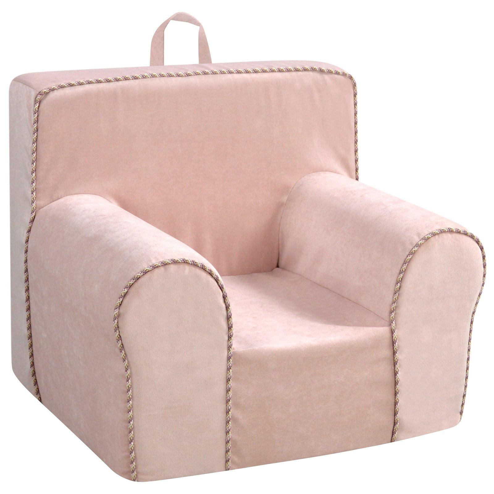 Kangaroo Trading Zamora Blush Grab-n-Go Foam Kids Chair with Handle
