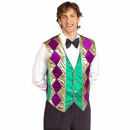 Mardi Gras Vest Adult Costume for $<!---->