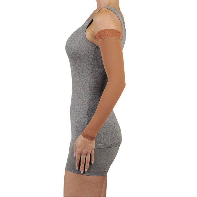Juzo 2002 Lymphedema Armsleeve Dreamsleeve w/Silicone Band - 30-40 mmHg Reg Long 2002CGL-ARM-P