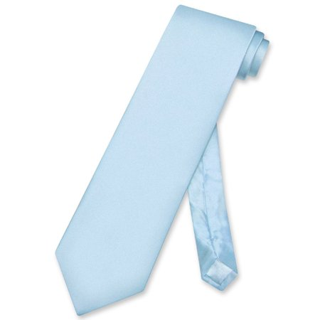 Biagio 100% SILK NeckTie Solid BABY BLUE Color Men's Neck Tie Checkered Silk Necktie Tie