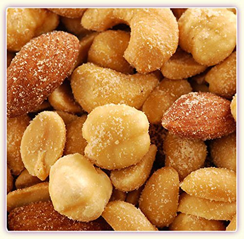 Its Delish Roasted Salted Mixed Nuts 5 Lb Five Pounds Bulk (Peanuts, Almonds, Cashews, Walnuts, Brazil Nuts, Hazel Nuts, and Pecans)