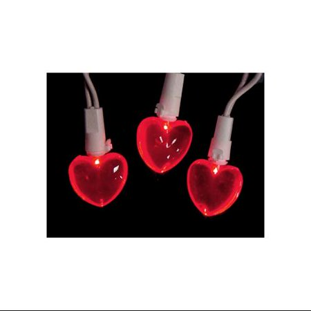 Set of 20 Red LED Mini Valentine\'s Day Heart Christmas Lights ...