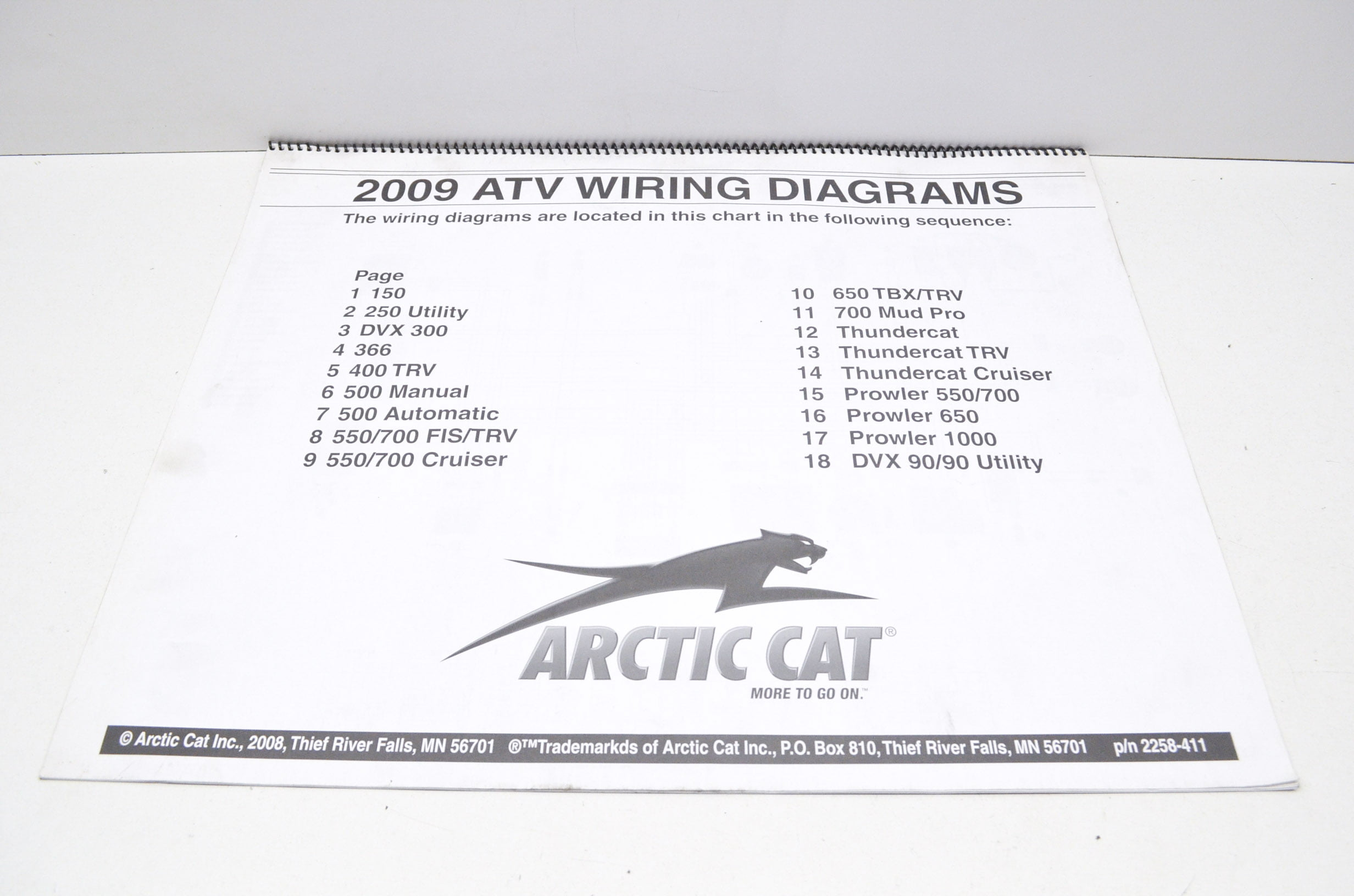 Arctic Cat 2258 411 2009 Atv Wiring Diagrams Qty 1 Walmart Com Arctic Cat  ATV Schematic Arctic Cat 366 Wiring Diagram