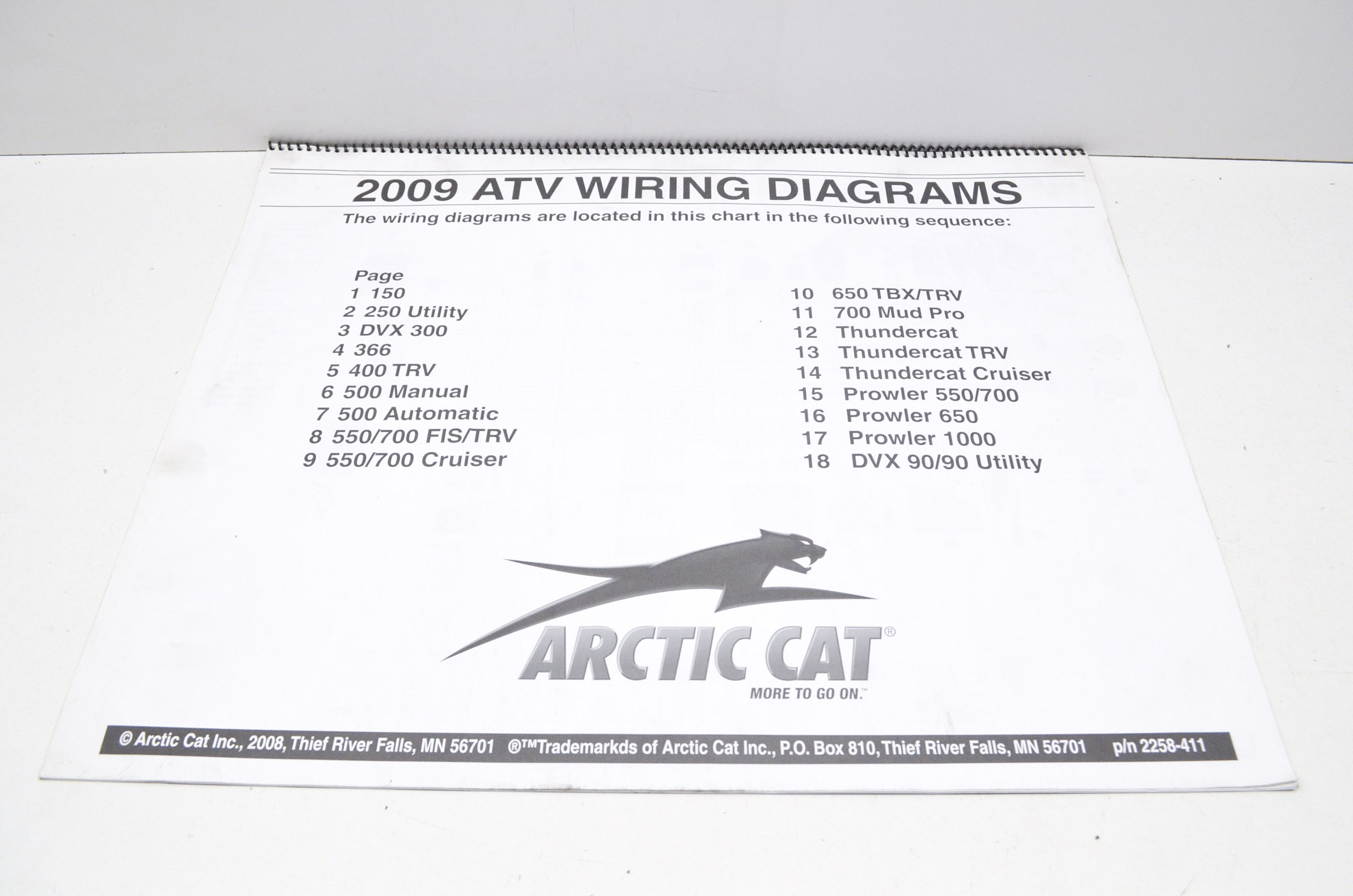 Wiring Diagram For 2008 Prowler 650 Arctic Cat List Of Schematic 2001 2258 411 2009 Atv Diagrams Qty 1 Walmart Com Rh
