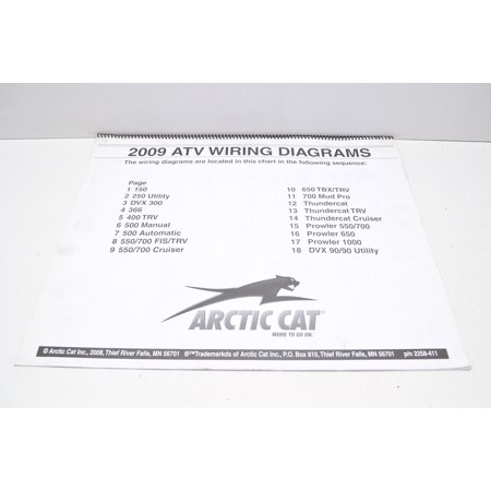 Arctic Cat 2258 411 2009 Atv Wiring Diagrams Qty 1 Walmart Com