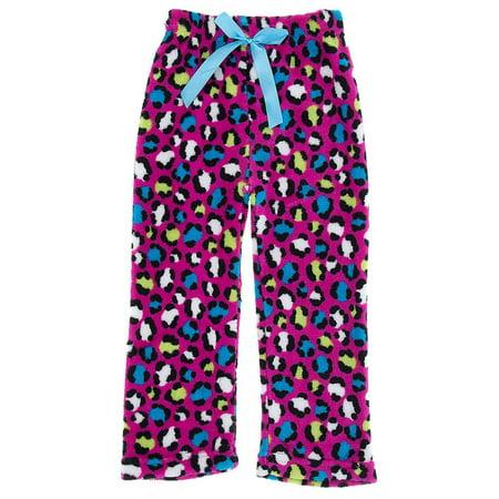 Sweet Sassy Girls Pink Leopard Fleece Pajama Pants