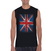 Mens Union Jack British Flag Ultra Cotton Sleeveless T-Shirt
