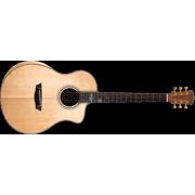Washburn Bella Tono Allure SC56S Acoustic Electric Studio Guitar, Natural Gloss