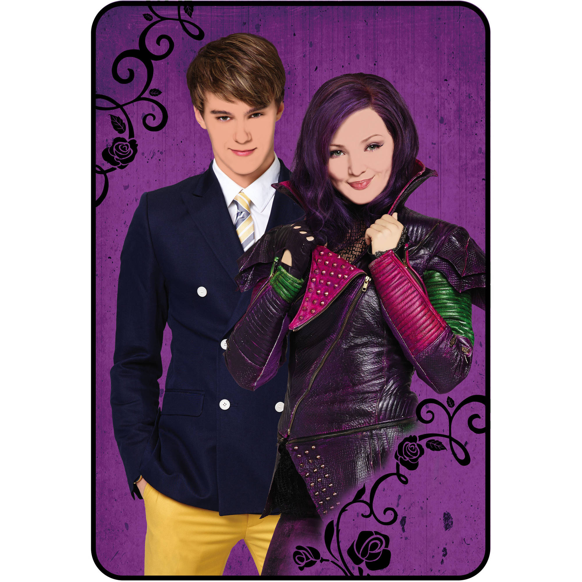 "Disney's Descendants Welcome To Auradon 62"" x 90"" Kids Plush Blanket"
